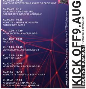 Dette er programmet for Kick Off 2019