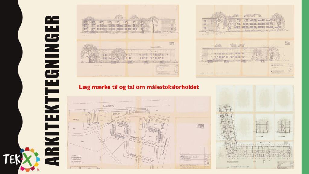 en side fra forløbet - arkitekttegninger over kærerne i rødover kommune