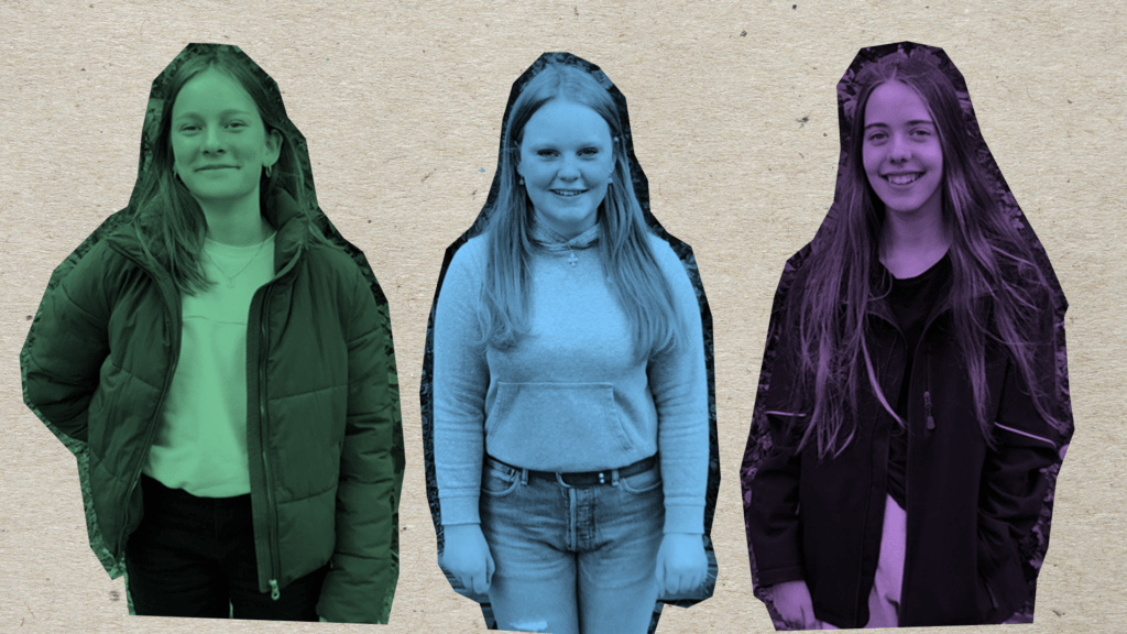 collage af 3 elever