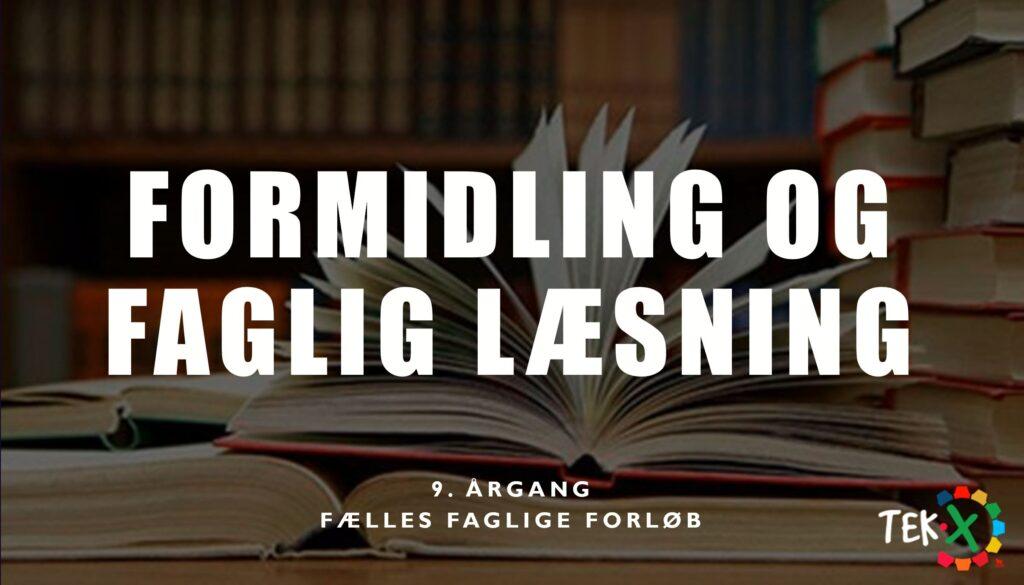 Formidling og faglig læsning cover billede